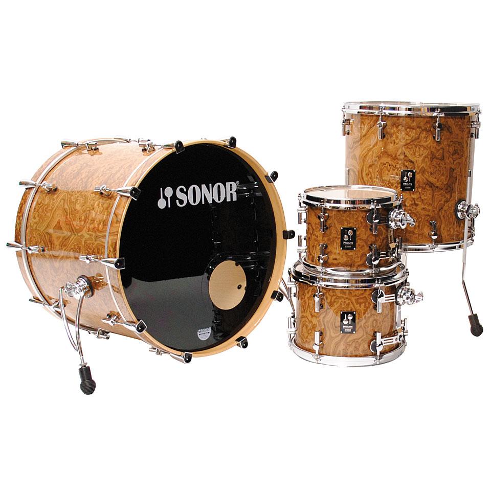 Sonor Prolite Pl12 Stage3 Chocolate Burl 171 Drum Kit