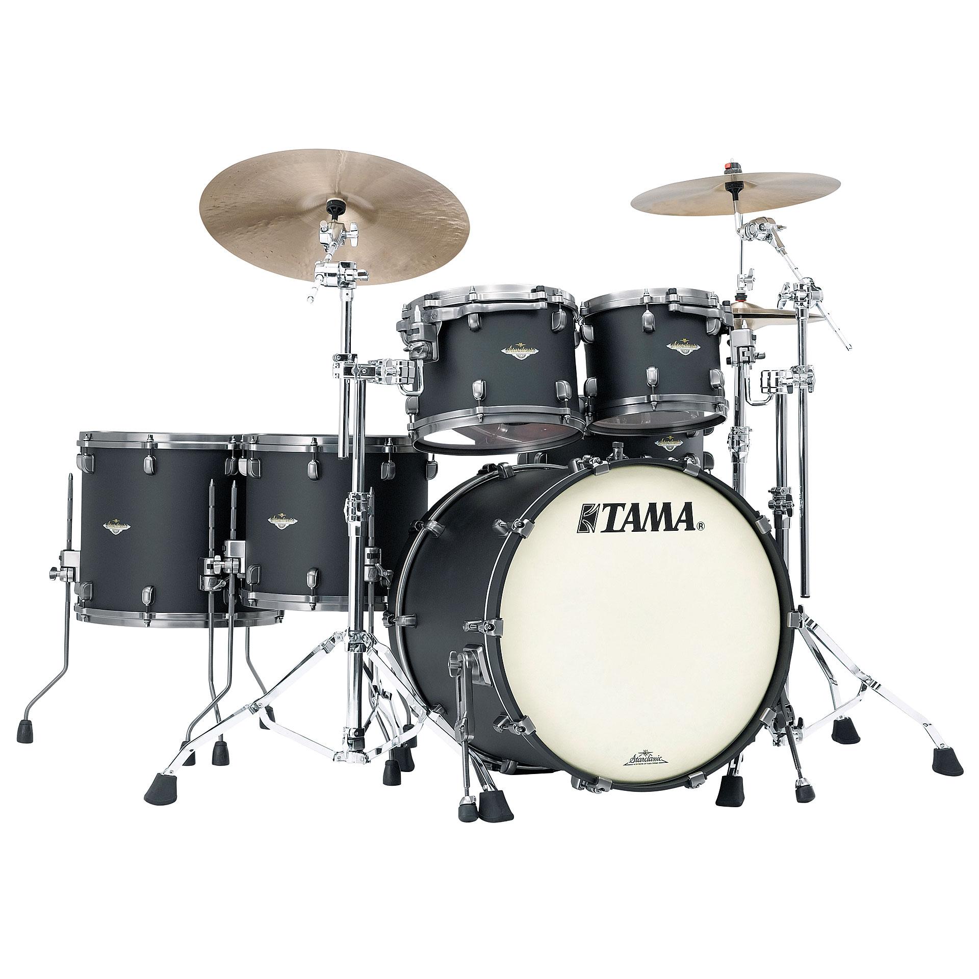 tama starclassic bubinga 22 flat black drum kit. Black Bedroom Furniture Sets. Home Design Ideas