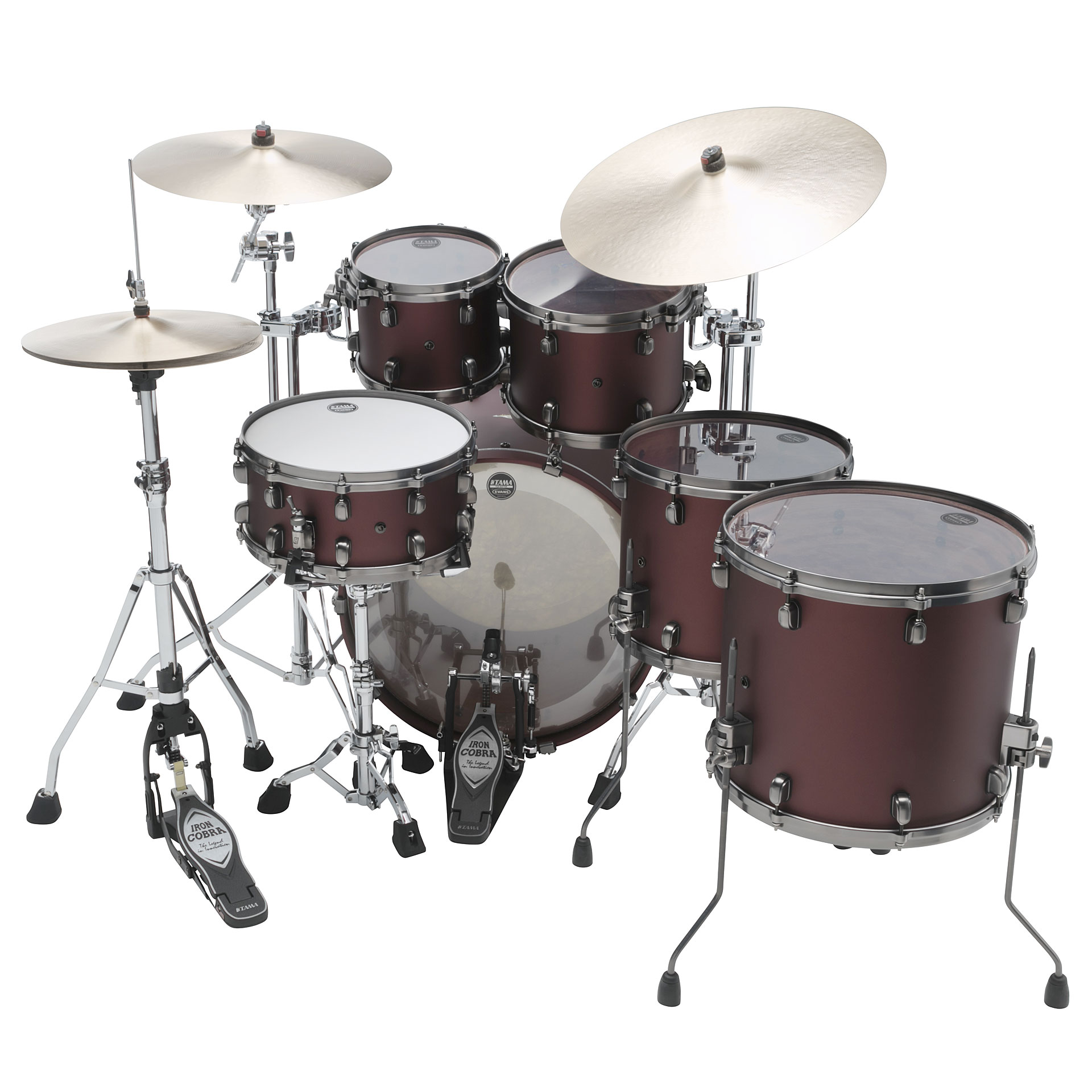 Tama starclassic bubinga 22 flat burgundy metallic drum kit for Classic house drums
