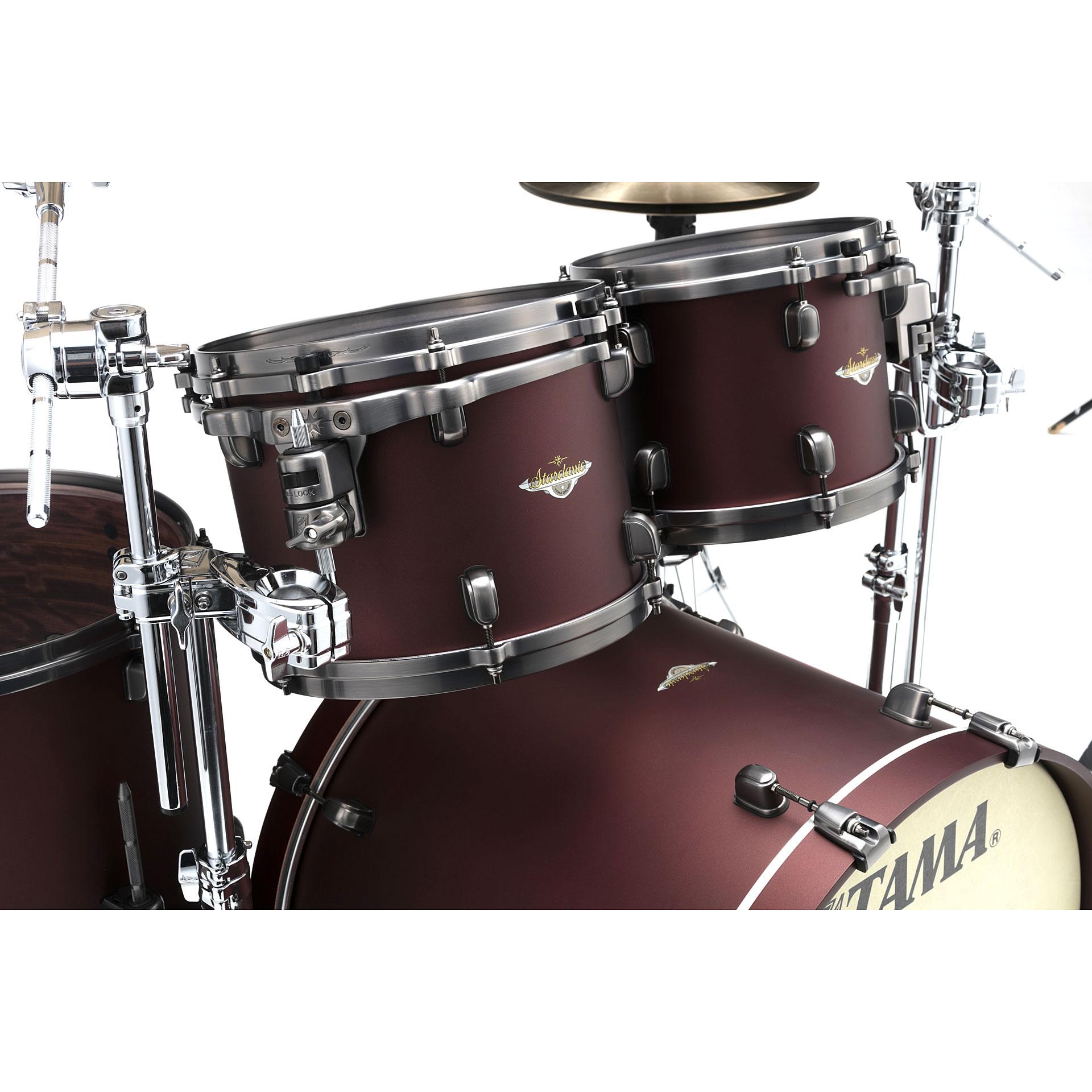 tama starclassic bubinga 22 flat burgundy metallic drum kit. Black Bedroom Furniture Sets. Home Design Ideas