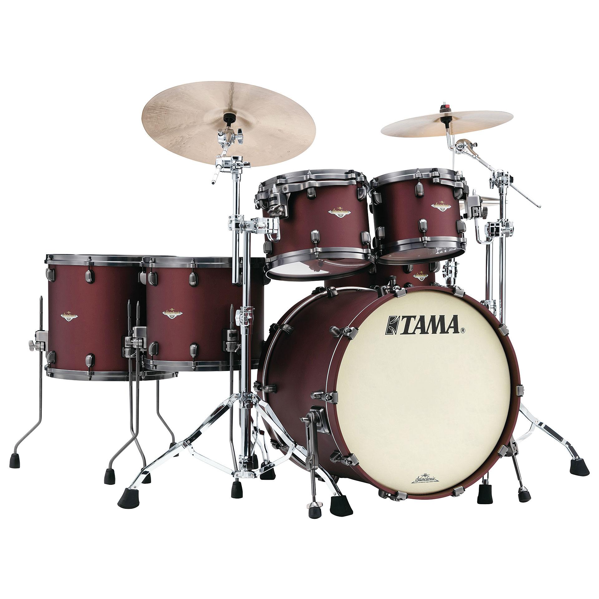 Drum Kit Tama Starclassic Bubinga 22 Flat Burgundy Metallic