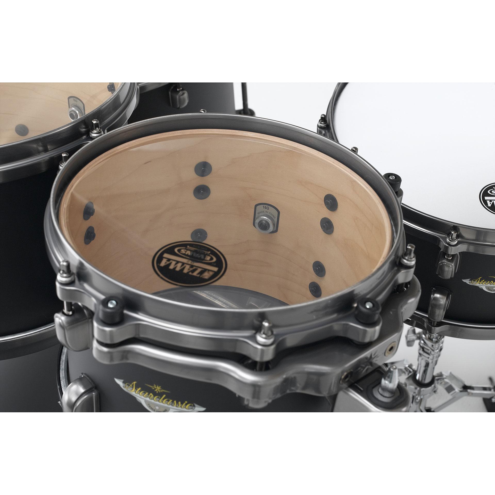 tama starclassic maple 22 flat black drum kit. Black Bedroom Furniture Sets. Home Design Ideas