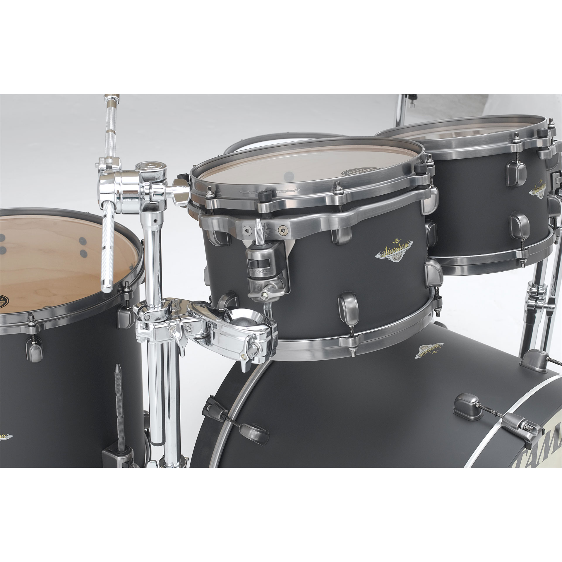 Tama Starclassic Maple 22 Quot Flat Black 171 Drum Kit