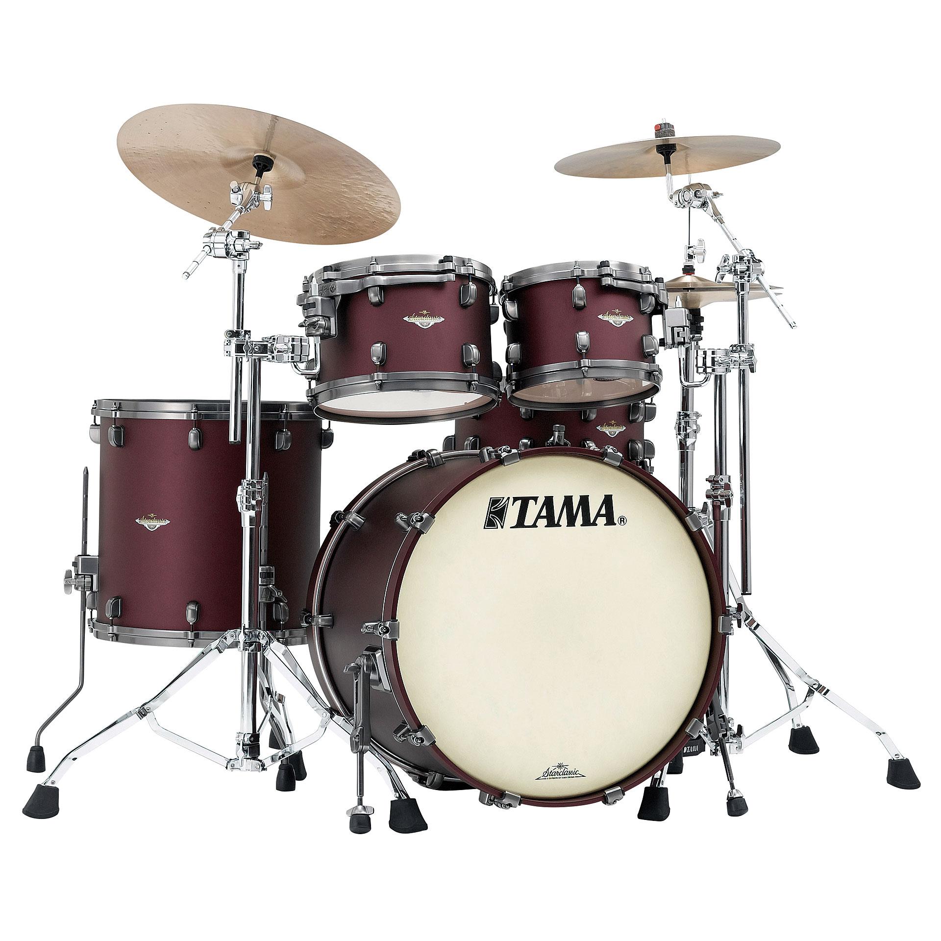 Tama starclassic maple 22 flat burgundy metallic drum kit for Zenhiser classic house drum sounds