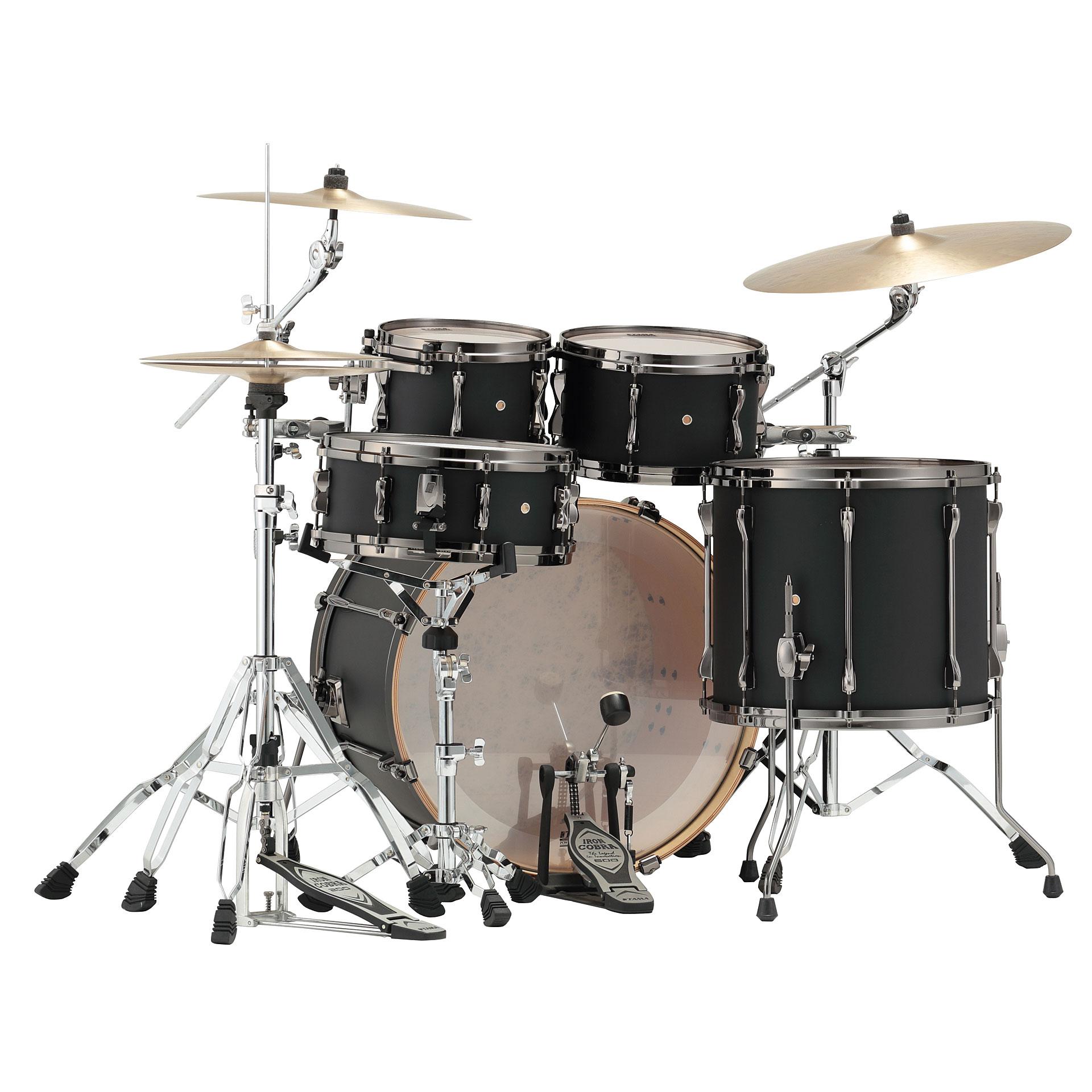 ... Drum Kit Tama Superstar Custom 22 Flat Black (2) ...