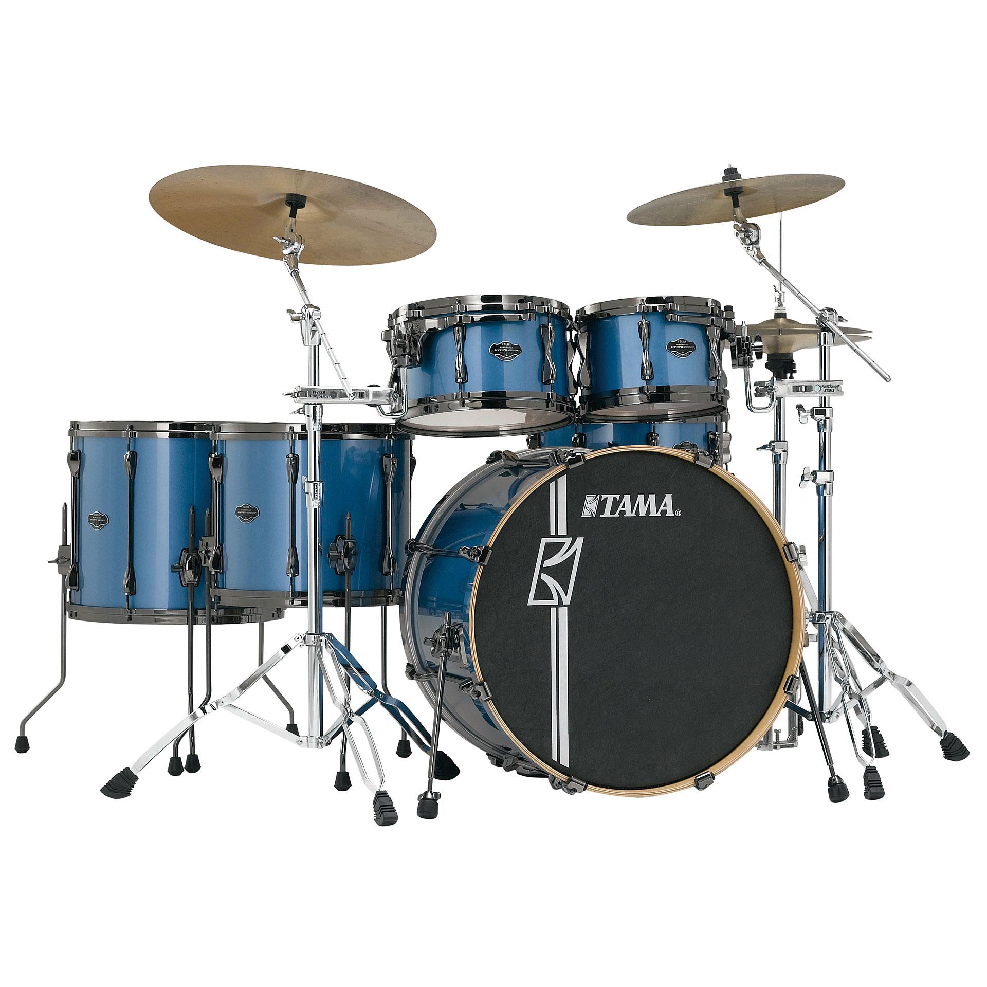 Tama superstar custom 22 vintage blue metallic drum kit for Classic house drums