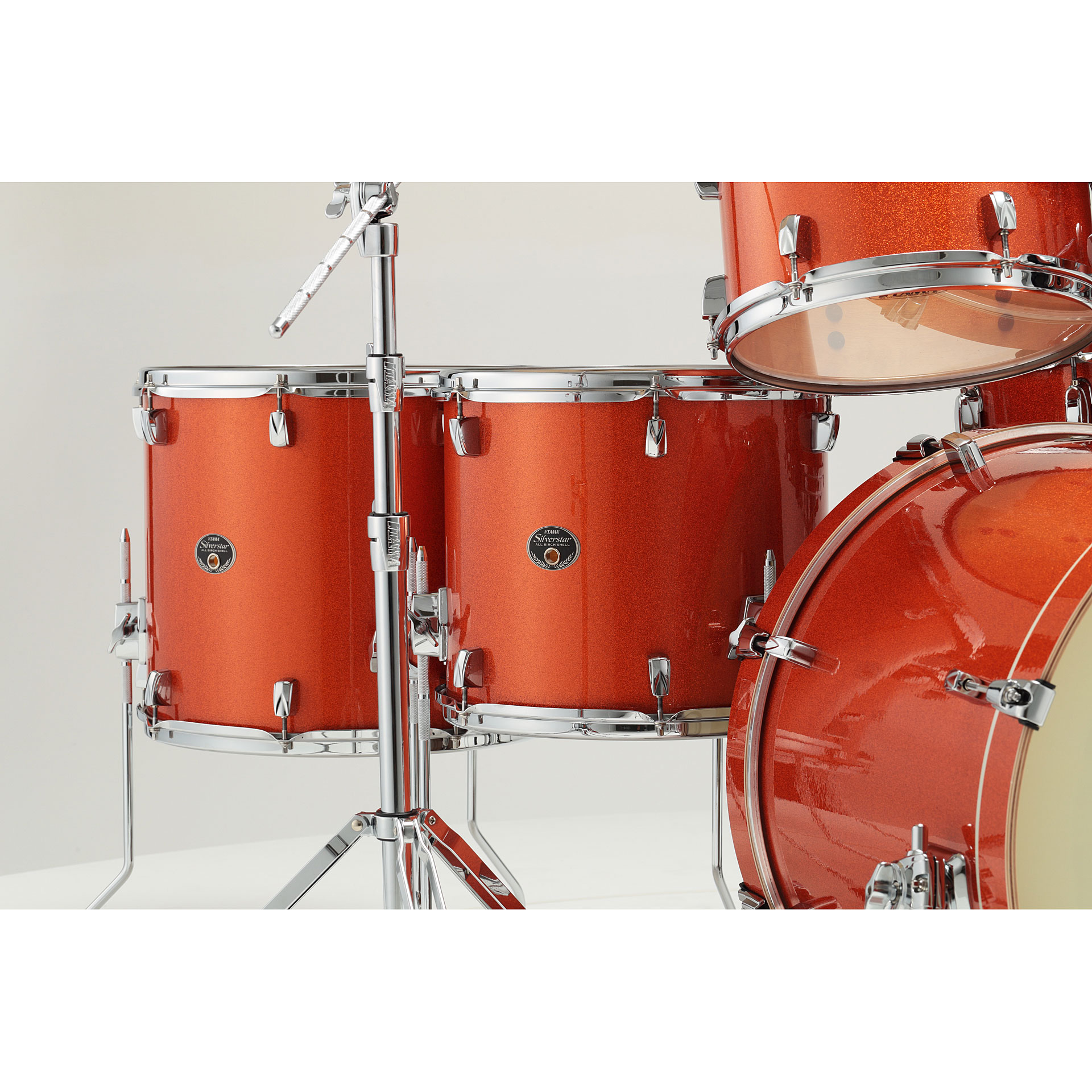 "Tama 18 Floor Tom: Tama Silverstar 22"" Bright Orange Sparkle 10093006 « Drum Kit"