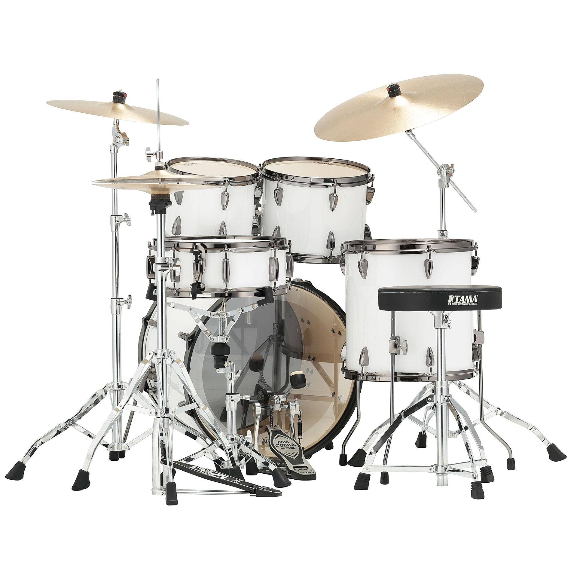 Tama Imperialstar 20 Quot Sugar White 171 Drum Kit