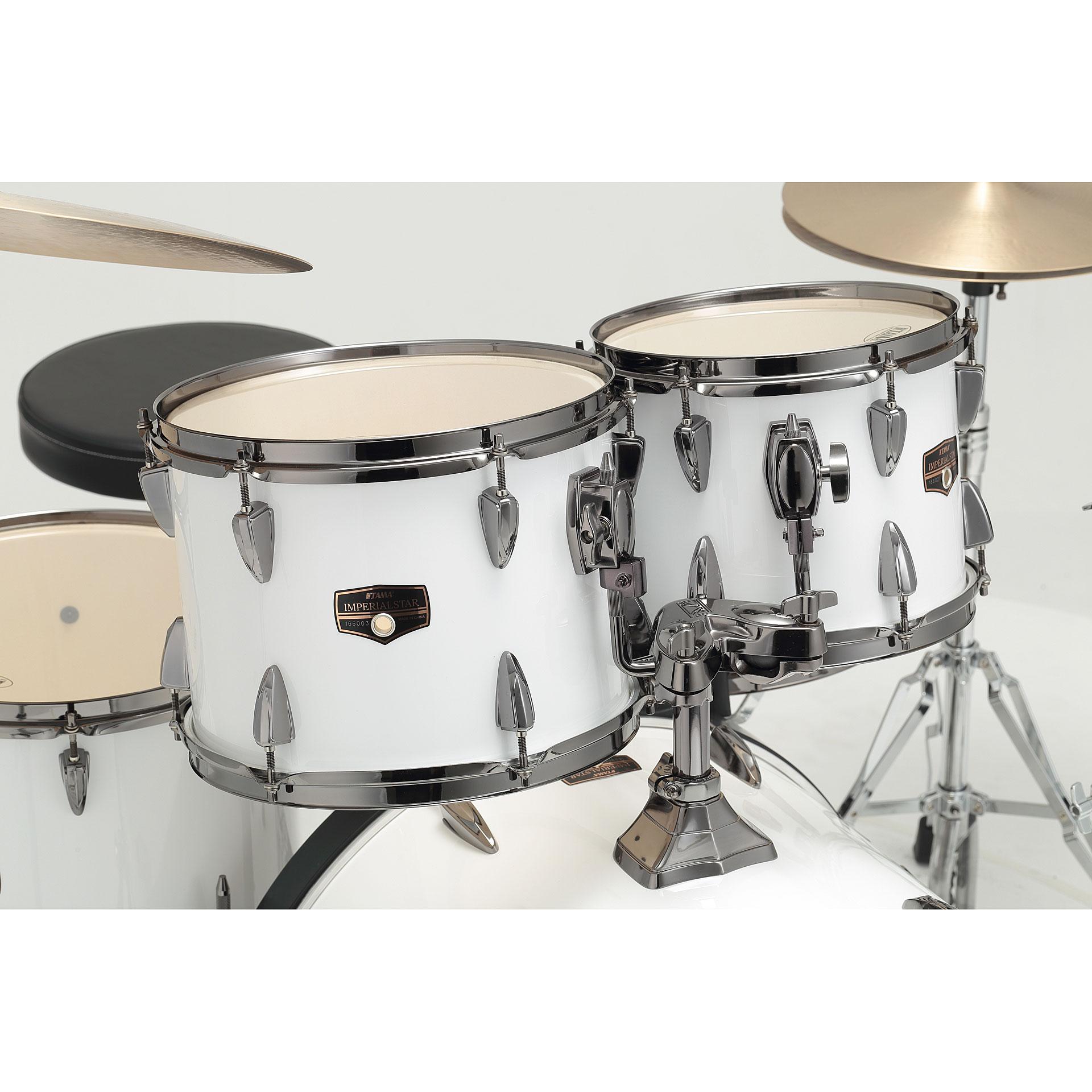 Tama Imperialstar 22 Quot Sugar White 171 Drum Kit