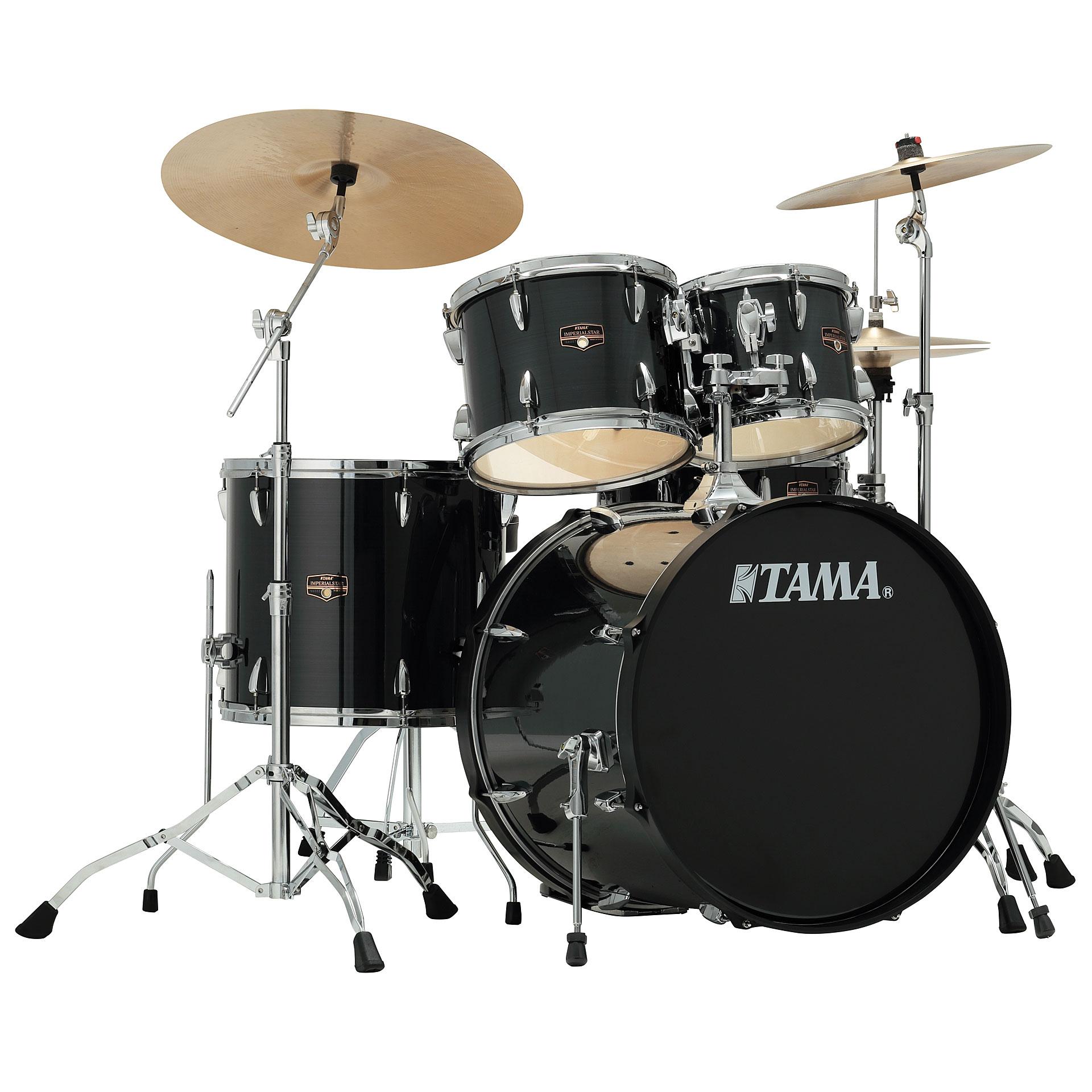 tama imperialstar 22 hairline black drum kit. Black Bedroom Furniture Sets. Home Design Ideas