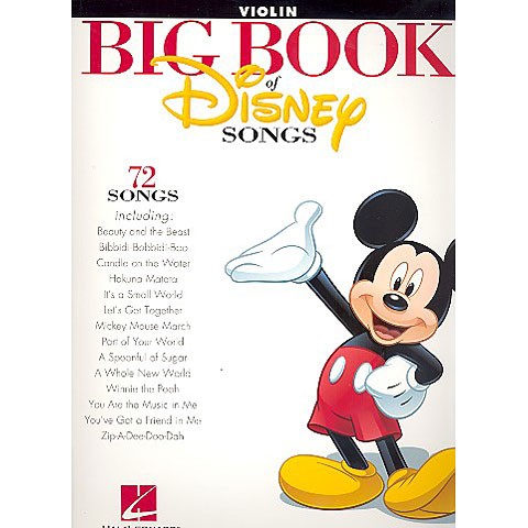 Libro de partituras Hal Leonard Big Book Of Disney Songs - Violin