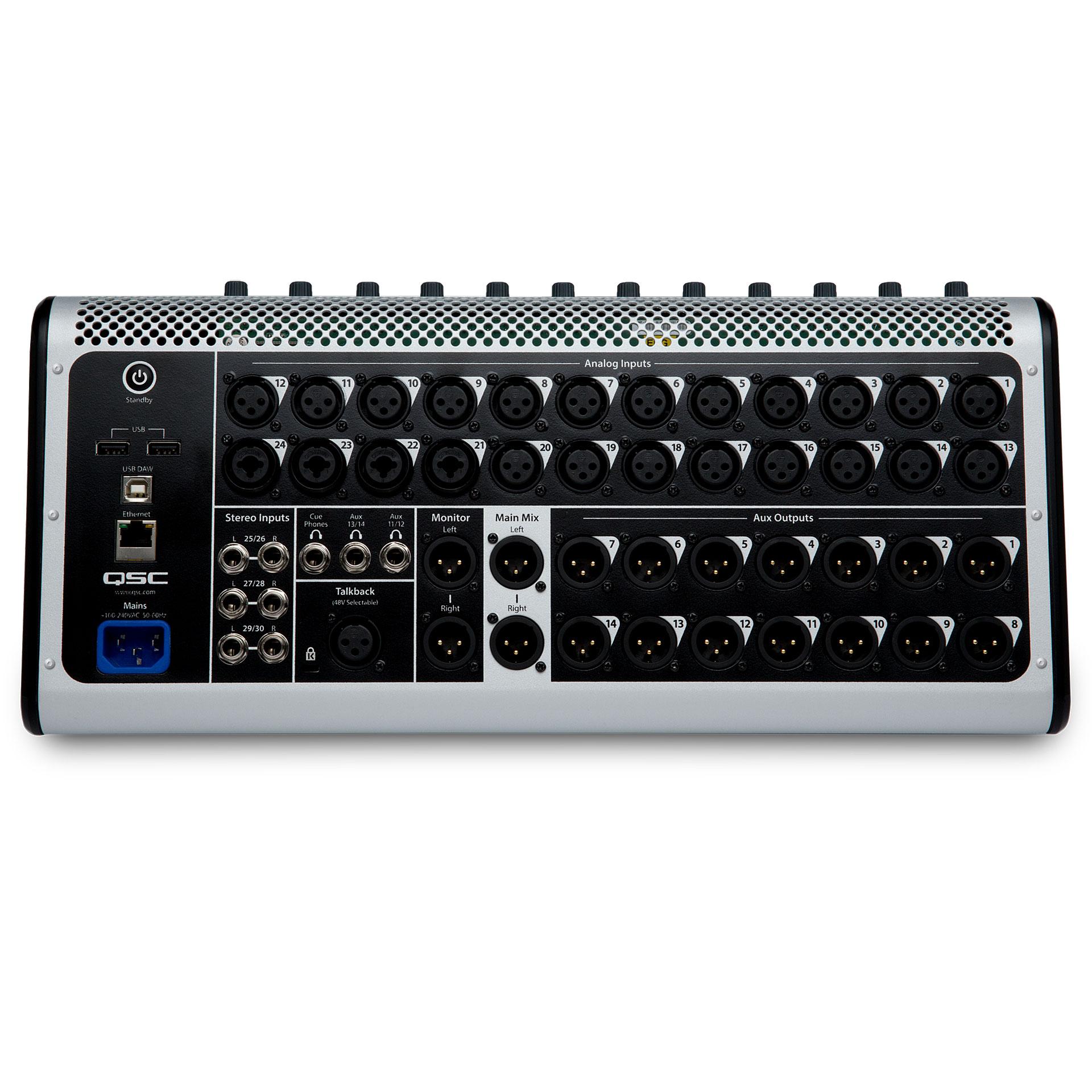 Qsc touchmix 30 pro console de mixage num rique - Console de mixage numerique ...