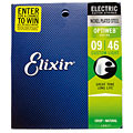 Saiten E-Gitarre Elixir Optiweb Custom Light 009-046