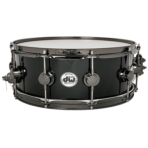 "Caja DW Collector's Finish Ply 14""x 5"" Solid Black Snare"