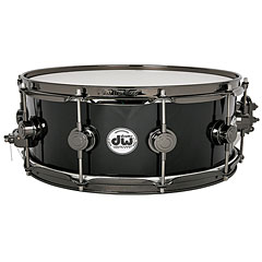 "DW Collector's Finish Ply 14""x 5"" Solid Black Snare « Caisse claire"