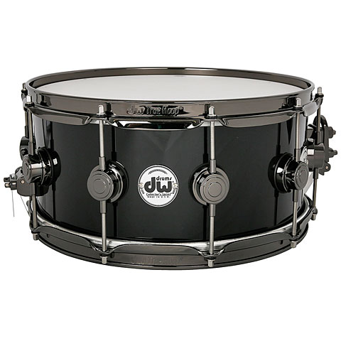 DW Collector´s Finish Ply 14''x 6'' Solid Black Snare