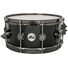 "DW Collector's Finish Ply 14""x 6"" Solid Black Snare « Snare Drum"