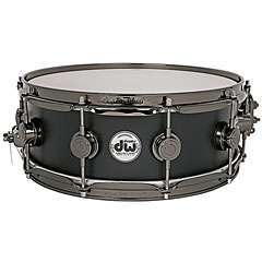 "DW Collector's Satin Oil 14"" x  5"" Matte Black « Caisse claire"