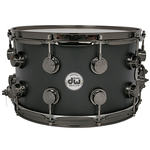DW Collector's Lacquer Custom 14  x  8  Matte Black