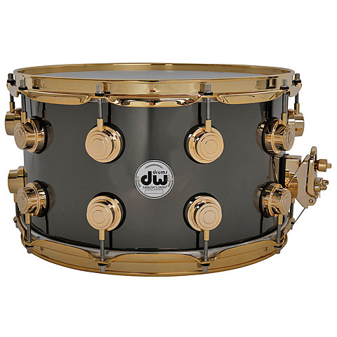 "Caja DW Collector's Brass 14""x 8"" Black Nickel Over Brass"