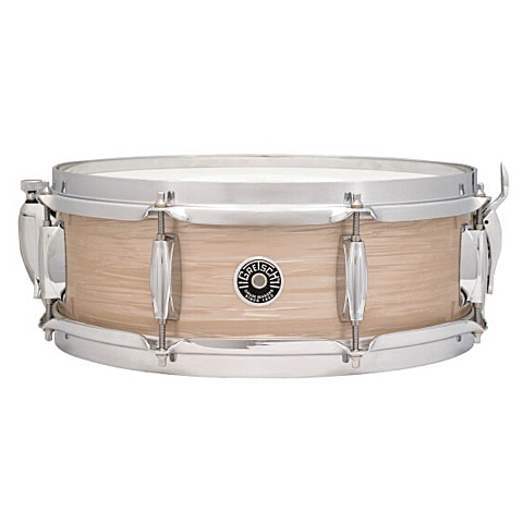 "Snare Drum Gretsch Drums USA Brooklyn 14"" x 5"" Cream Oyster Snare"