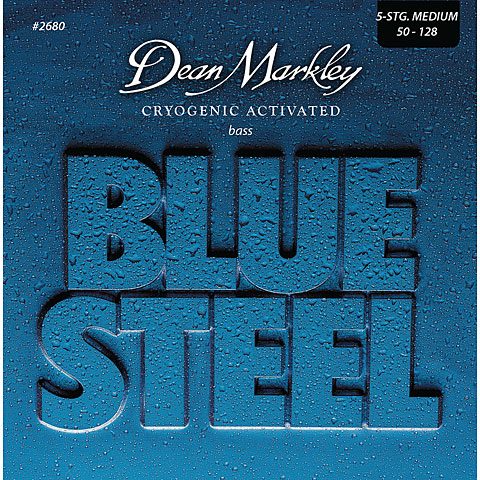 Dean Markley 2680 5MED 50-128 Blue Steel Bass