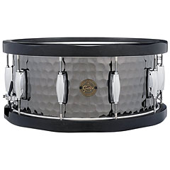 "Gretsch Drums Full Range 14"" x 6,5"" Hammered Black Steel Snare « Snare drum"