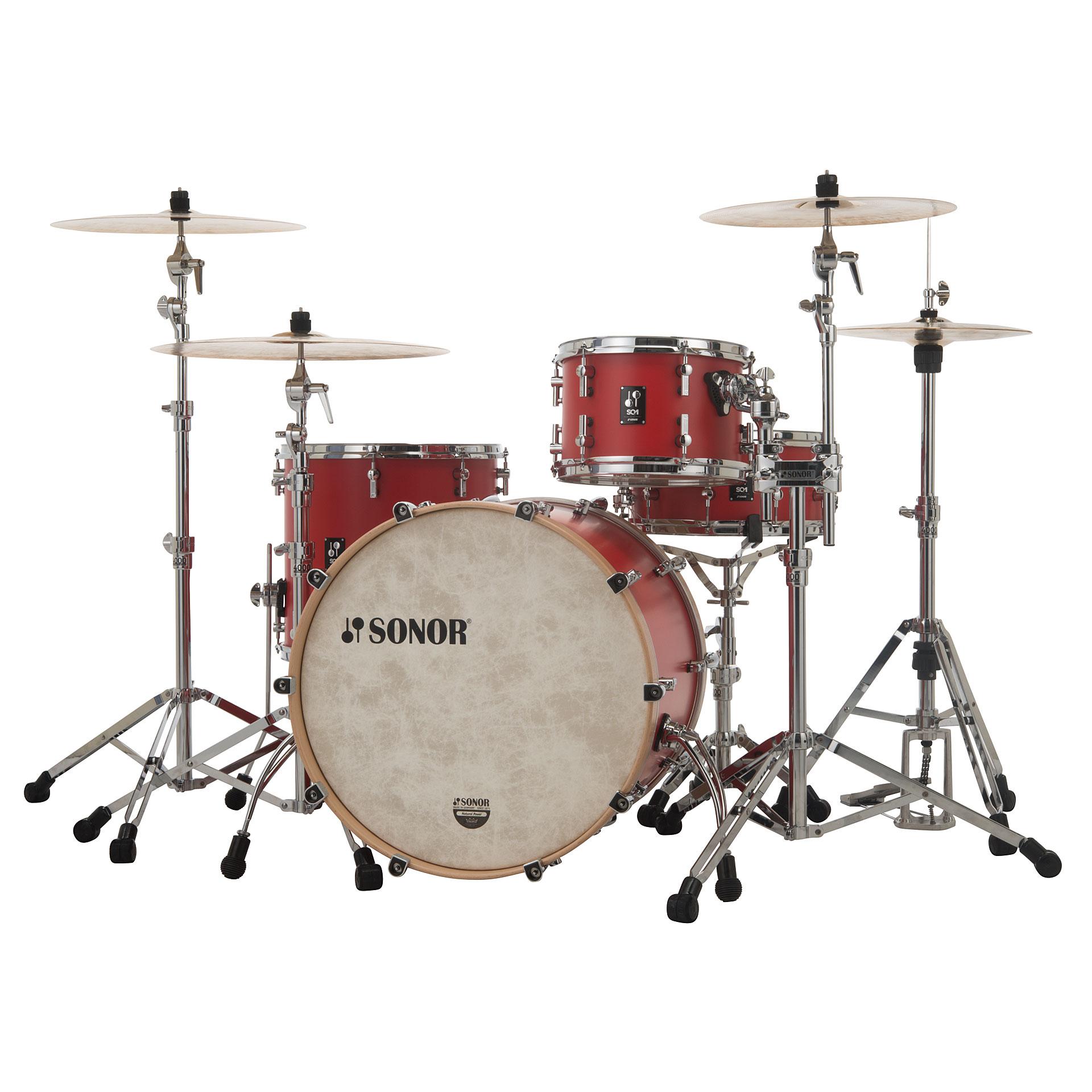 Sonor Sq1 24 Quot 13 Quot 16 Quot Hot Rod Red 171 Drum Kit