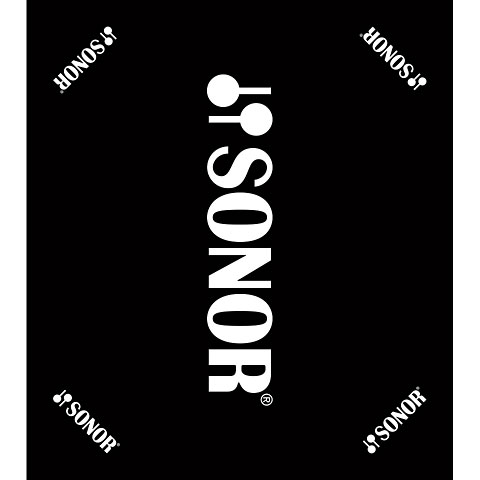 Drum Zubehör Sonor Black Carpet with Sonor Logo 160 x 180 cm
