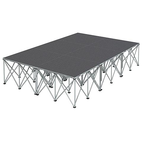 Intellistage Bühne 2 x 3 m Teppich