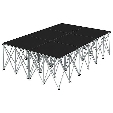 Plataforma de escenario Intellistage Bühne 2 x 3 x 0,8 m Industrial Diamond