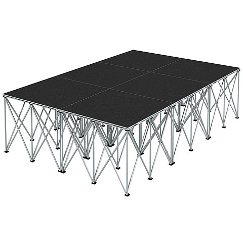Plataforma de escenario Intellistage Bühne 2 x 3 x 0,8 m Tuffcoat