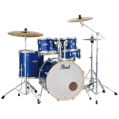 "Pearl Export 20"" High Voltage Blue Complete Drumset"