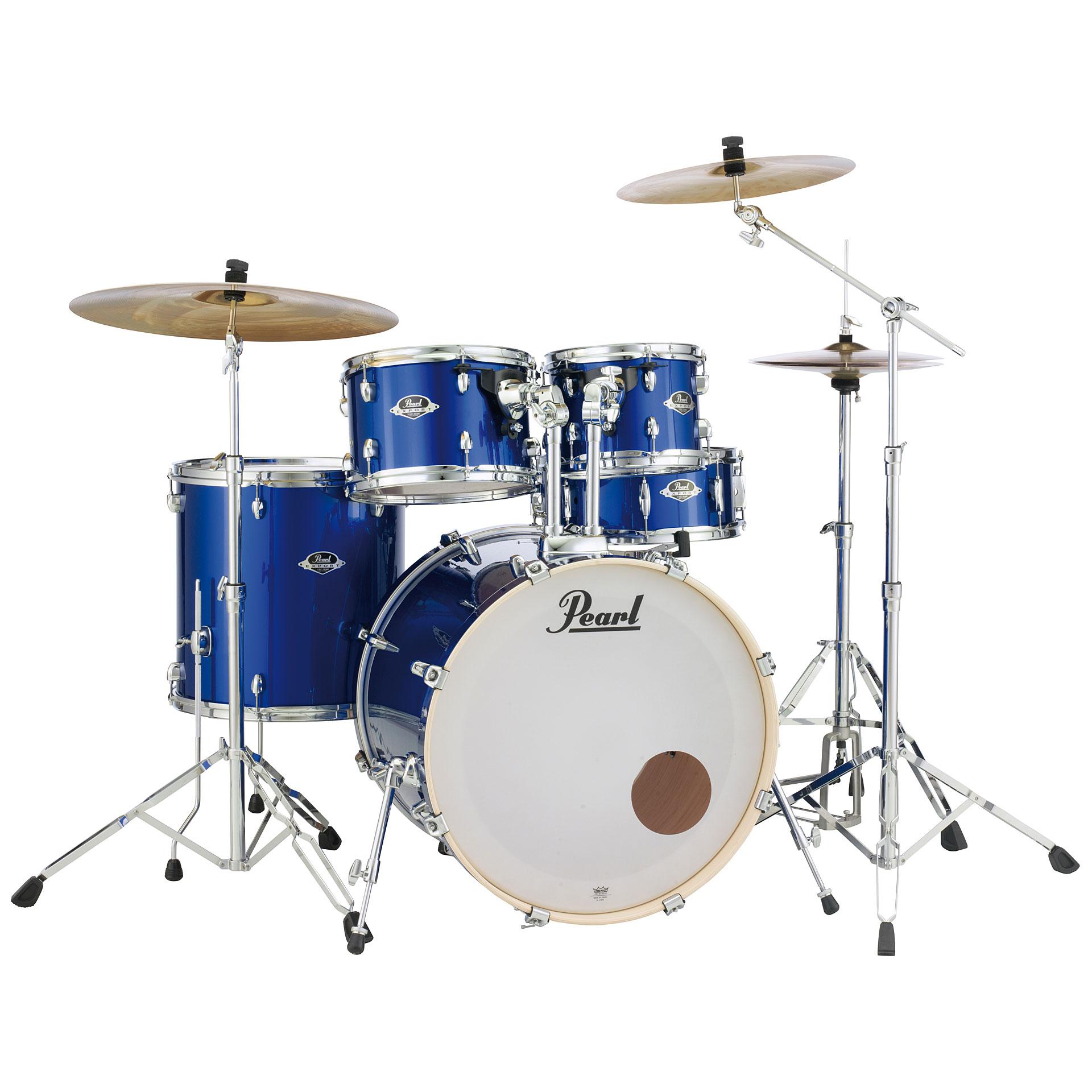 High Voltage Drummer : Pearl export quot high voltage blue complete drumset « drum kit