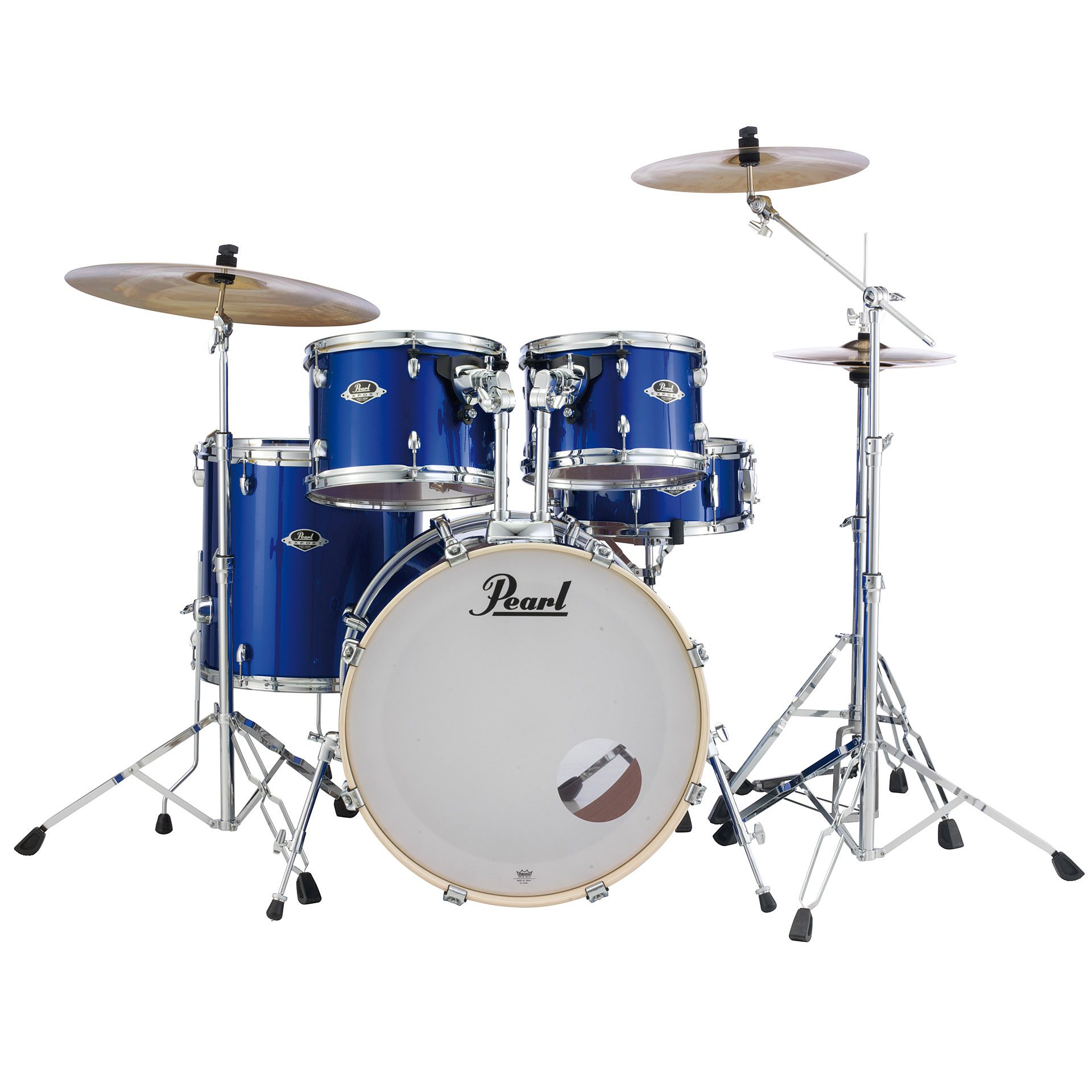 Schlagzeug Pearl Export 22 High Voltage Blue Complete Drumset