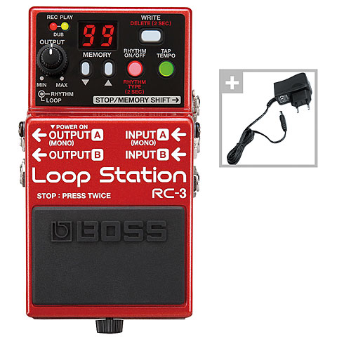 Guitar Effect Boss RC-3 Power Bundle