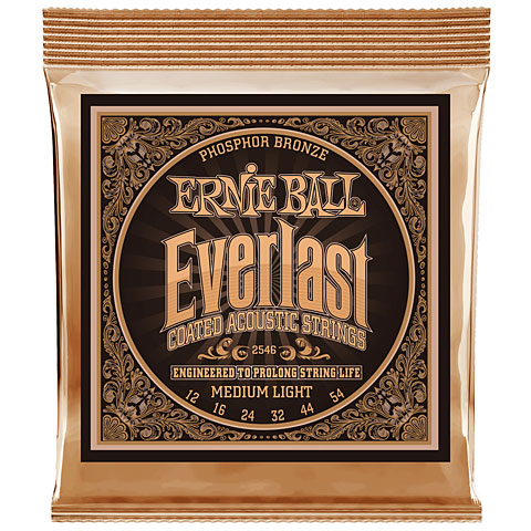 Saiten Westerngitarre Ernie Ball Everlast Medium Light Phosphor Bronze 2546 .012-054