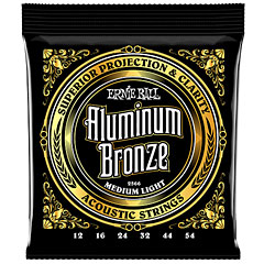 Ernie Ball Medium Light Aluminum Bronze 2566 .012-054 « Corde guitare folk