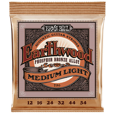 Corde guitare folk Ernie Ball Earthwood Medium Light Phosphor Bronze 2146 .012-054