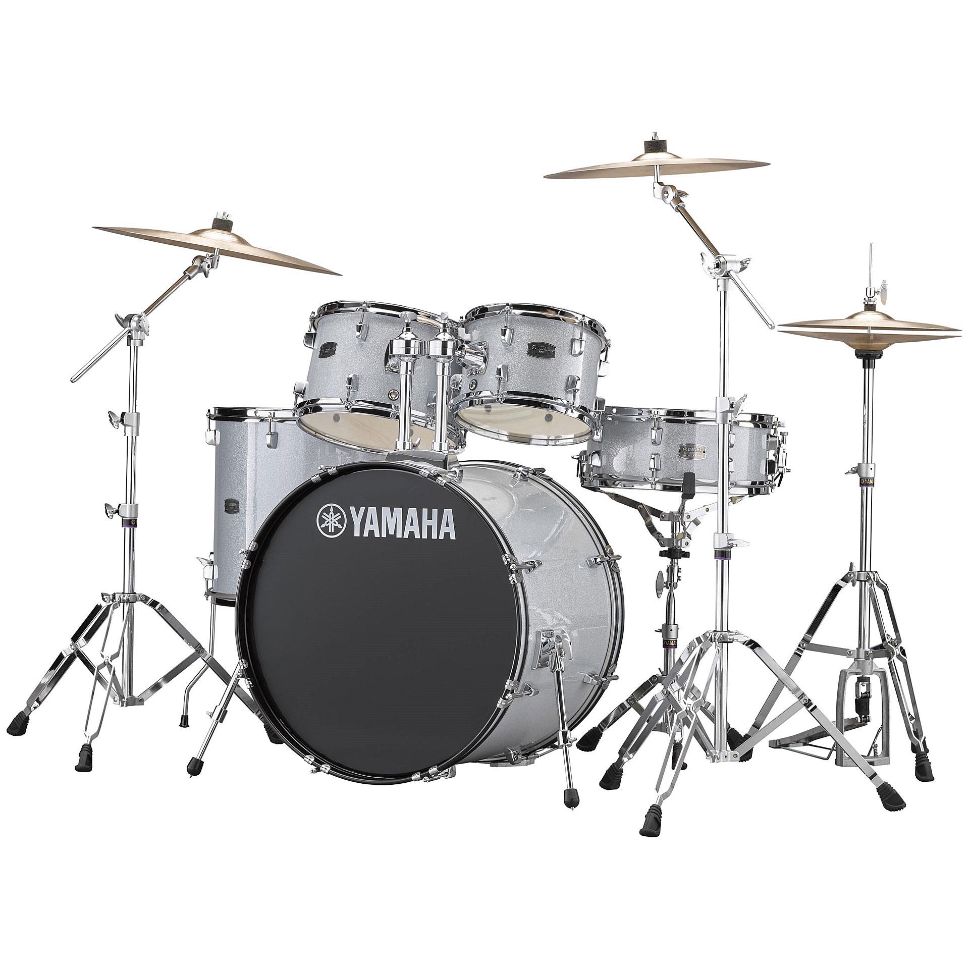 Yamaha Rydeen 22 Quot Silver Glitter Bundle 171 Drum Kit