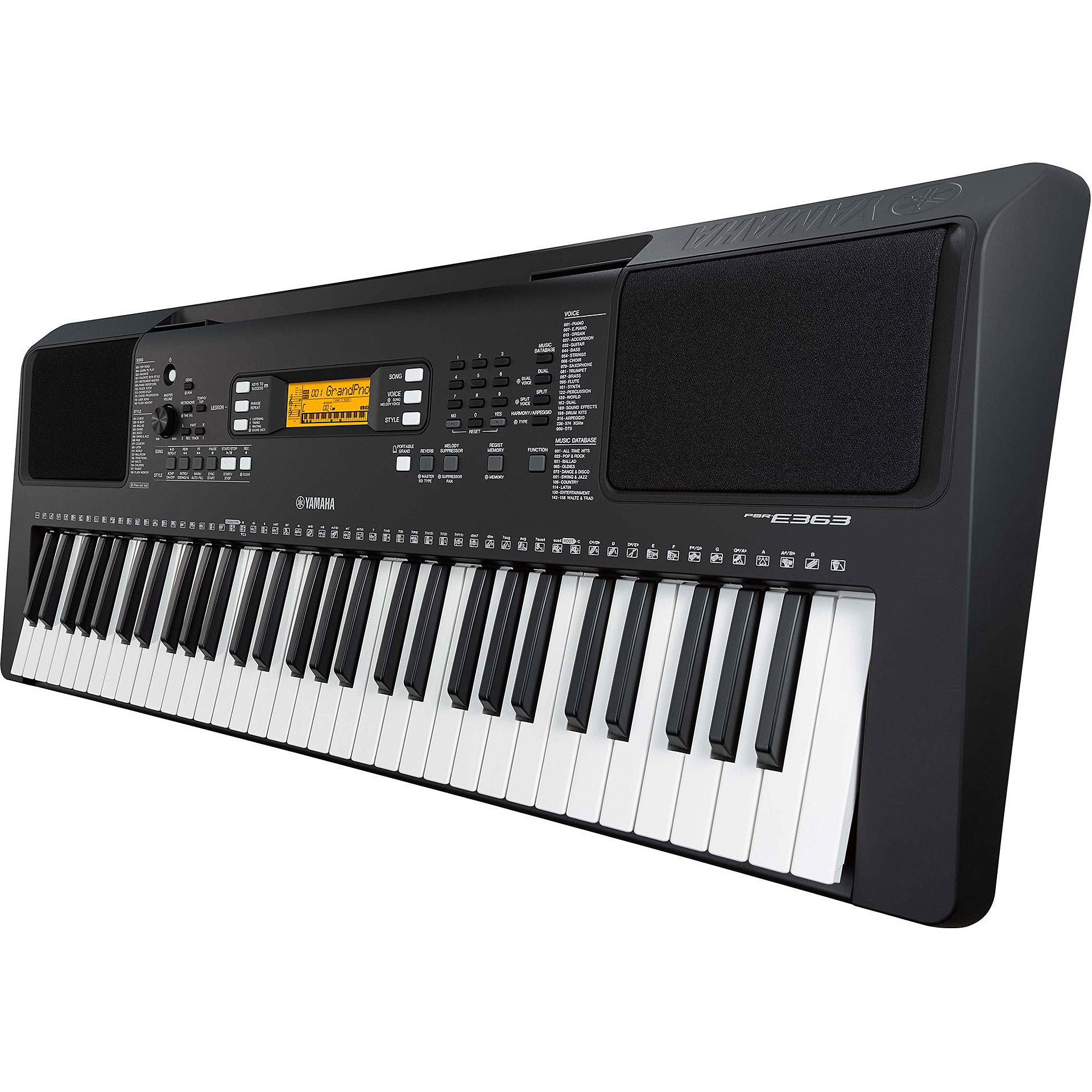 yamaha psr e363 keyboard. Black Bedroom Furniture Sets. Home Design Ideas