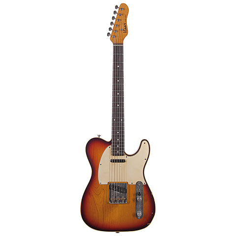 Haar Traditional T aged, 3Tone Sunburst, RW, Binding