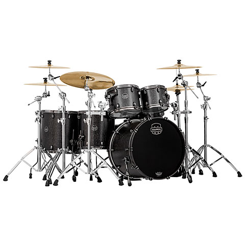 Mapex Saturn V MH Exotic Serie 22  Flat Black Maple Burl