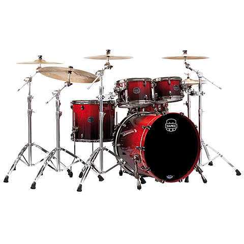 "Schlagzeug Mapex Saturn V MH Exotic Serie 22"" Cherry Mist Maple Burl"
