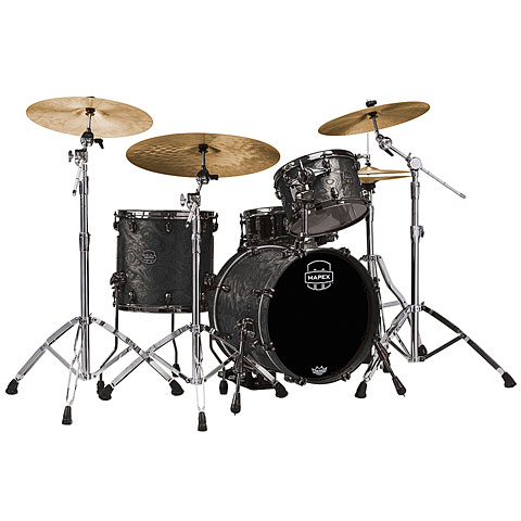 Mapex Saturn V MH Exotic Serie 18  Flat Black Maple Burl