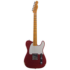 Fender Custom Shop 1955 Esquire Relic Faded Red Sparkle « Elektrische Gitaar