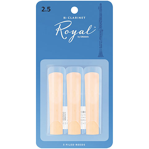 D'Addario Royal Bb-Clarinet  2,5 3er Pack