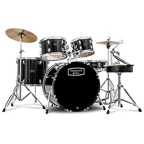 Batterie acoustique Mapex Tornado 20'' Dark Black Drum Set