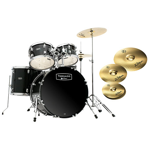"Mapex Tornado 20"" Dark Black/Zildjian Bundle"