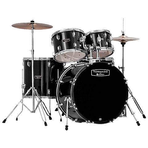 """Schlagzeug Mapex Tornado 22"""" Dark Black Drum Set"""